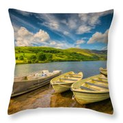 Summer Boating Throw Pillow
