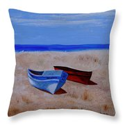 Summer Boats Throw Pillow