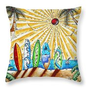 Summer Break By Madart Throw Pillow by Megan Duncanson