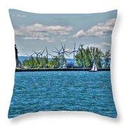 Summer Breeze From Lasalle Park Throw Pillow