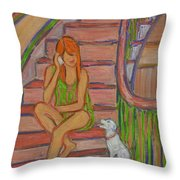 Summer Chat Throw Pillow by Xueling Zou