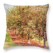 Summer Cherries Throw Pillow