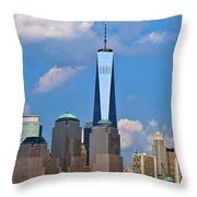 Summer Cityscape Nyc  Throw Pillow