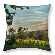 Summer Corn Square Throw Pillow by Bill Wakeley