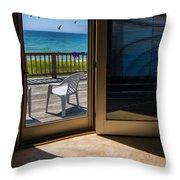 Summer Cottage Throw Pillow