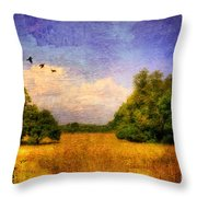 Summer Country Landscape Throw Pillow