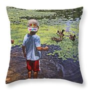 Summer Day At The Pond Throw Pillow