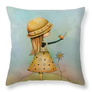 Summer Days Are Golden Throw Pillow by Karin Taylor