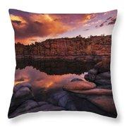 Summer Dells Sunset Throw Pillow