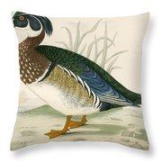 Summer Duck Throw Pillow