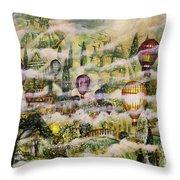 Summer Eden Throw Pillow