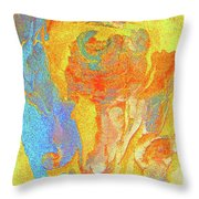 Summer Eucalypt Abstract 3 Throw Pillow