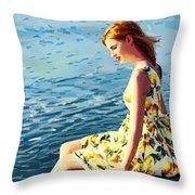 Summer Eve Throw Pillow