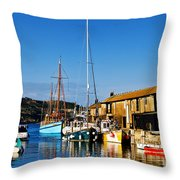 Summer Evening At The Harbour Throw Pillow
