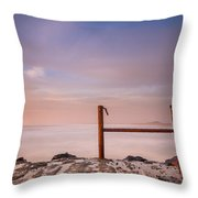 Summer Evening On North Jetty Throw Pillow