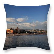 Summer Evenings In Santa Cruz Throw Pillow by Laurie Search