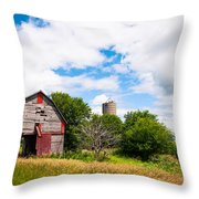 Summer Farm Throw Pillow