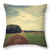 Summer Field Of Dreams Throw Pillow