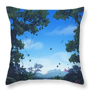 Summer Fields Throw Pillow by Cassiopeia Art