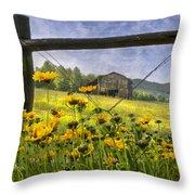 Summer Fields Throw Pillow