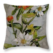 Summer Floral Throw Pillow