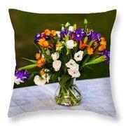 Summer Flowers Featured 3 Throw Pillow