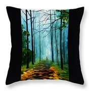 Summer Forest - Palette Knife Oil Painting On Canvas By Leonid Afremov Throw Pillow