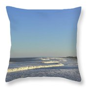 Summer Fun Jersey Shore Throw Pillow
