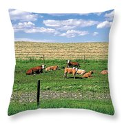 Summer Furrows Throw Pillow
