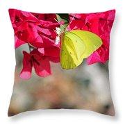 Summer Garden II In Watercolor Throw Pillow