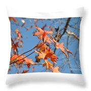 Summer Gold Leaf Throw Pillow