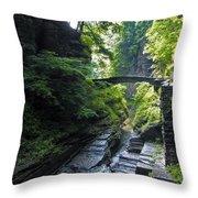 Summer Gorge Throw Pillow