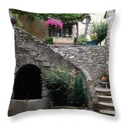 Summer House Throw Pillow