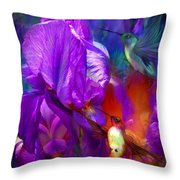 Summer Hummers Throw Pillow
