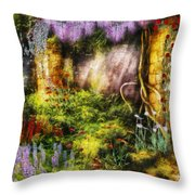 Summer - I Found The Lost Temple  Throw Pillow