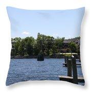 Summer Impression Lake Winnipesaukee Throw Pillow