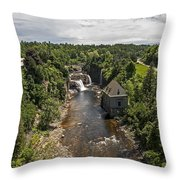 Summer In Asuable Chasm Throw Pillow