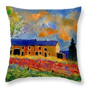 Summer In Houroy 57 Throw Pillow