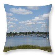 Summer In New England Throw Pillow