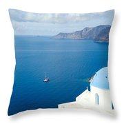 Summer In Santorini - Greece Throw Pillow