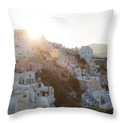 Summer In Santorini Throw Pillow