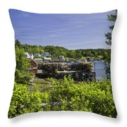 Summer In South Bristol On The Coast Of Maine Throw Pillow
