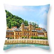 Summer In St Sebastian Throw Pillow