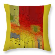 Summer In The Big City - Fantasy Cityscape Throw Pillow