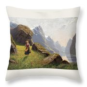 Summer In The Fjord Throw Pillow
