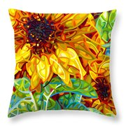 Summer In The Garden Throw Pillow