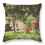 Summer In The Park Throw Pillow