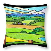 Summer In The Shenandoah Valley Throw Pillow