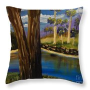 Summer In The Snowy River Region Throw Pillow