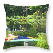 Summer In Vermont Throw Pillow
